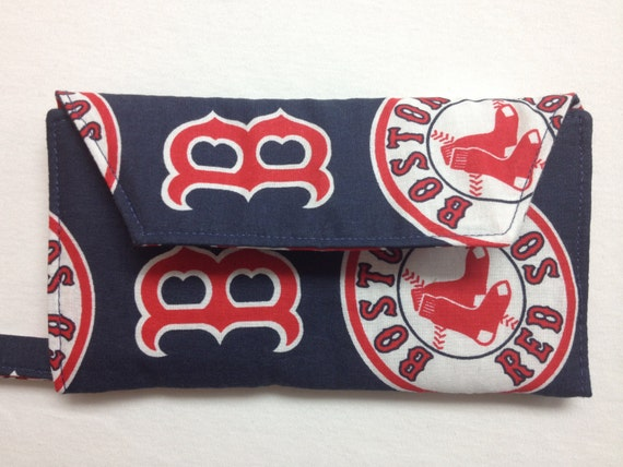 The Batter Up: Cell Phone Wallet (Boston Red Sox Print)