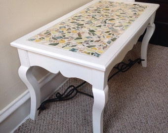 Mosaic Coffee Table, White Coffee Table