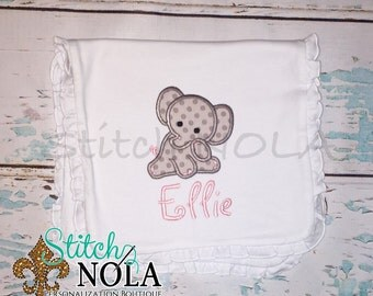 Baby Elephant Burp Cloth