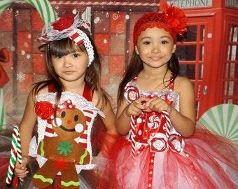 Christmas tutu dress,Christmas pageant dress, peppermint tutu dress, candy land tutu dress, Christmas dress, gingerbread man tutu dress
