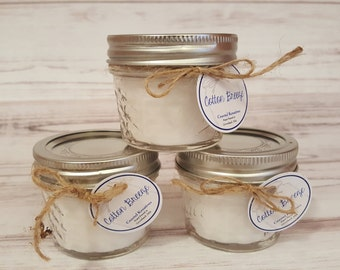 Mason Jar Candles~ 3 Mini 4oz for 12! Custom Labels available! Great For wedding or shower favors!!