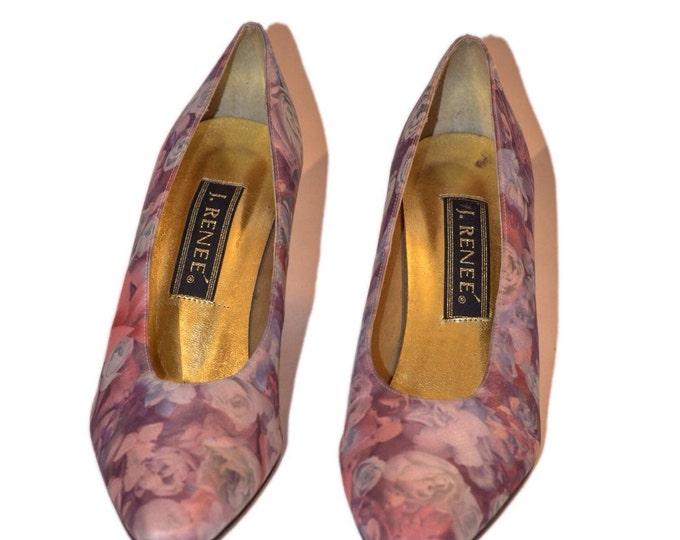 J. Renee Vintage Estate Shades of Purple Heels