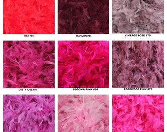 50 Gram 6 Foot Feather Boas in 50 Colors!