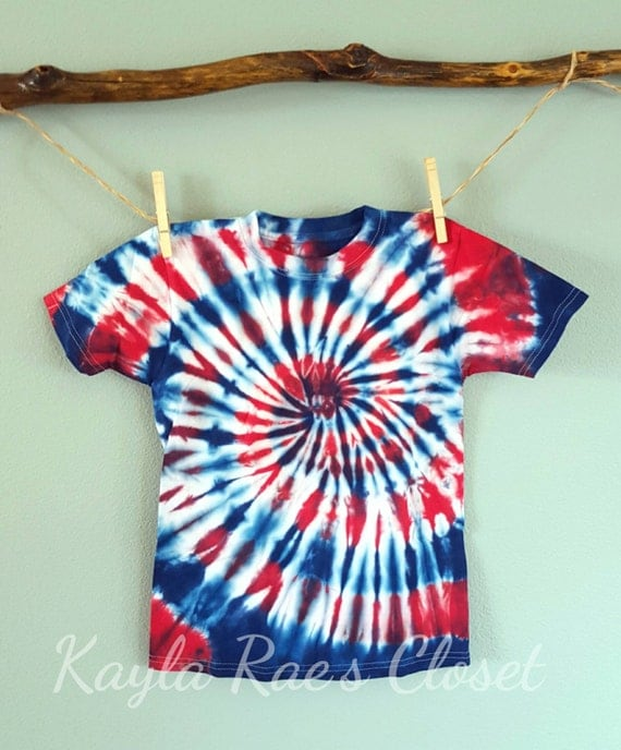 4th of july tie dye t shirt gift for grandson