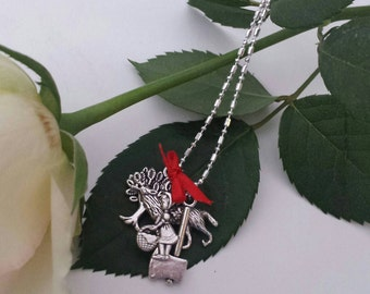 Red Ridding Hood Charm Necklace