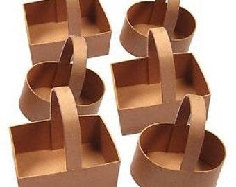 6 Paper Mache Baskets
