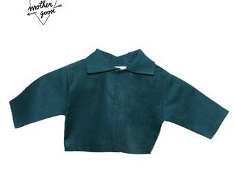 "Jacket ""Golden loop"" - green flax-"