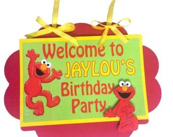 Elmo - Personalized Door Welcome Sign