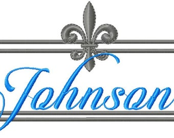 Machine Embroidery Design Fleur De Lis Frame comes in 3 sizes 9x4,7x3,and 5x2