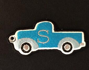 Machine Embroidery Design - Truck Zipper Pull Bag Tag