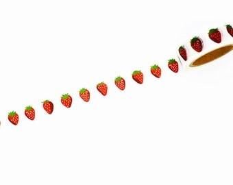 Washi Tape, Strawberry Washi Tape, Cute Washi Tape, Scrapbook Washi, Craft Tape, Decorative Tape