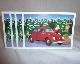 Vintage VW Volkswagen Xmas Cards 14 With Envelopes