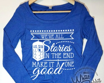 Doctor Who Quote Off The Shoulder Long Sleeve