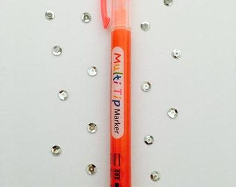 Marker, write 3 ways (3 way), red orange (RedOrange)