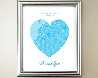 Brooklyn Heart Map