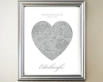Edinburgh Heart Map