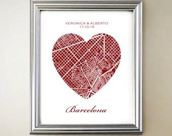 Barcelona Heart Map