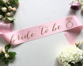 Bride-To-Be Sash with Diamond Ring - bachelorette party accessory - bachelorette sash - bride to be sash