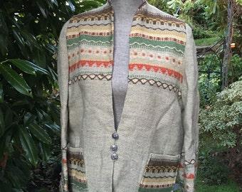 Handmade Gripstads Veverti Designer Norwegian Wool Jacket made in Norway-size M