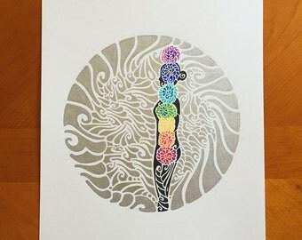 chakra meditation an original abstract drawinglauren