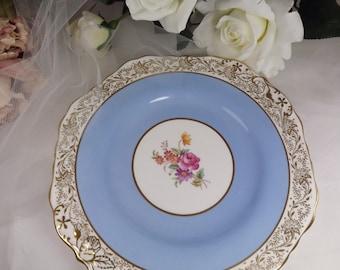 Vintage Spode Copeland Cake Plate - Cornflower Blue