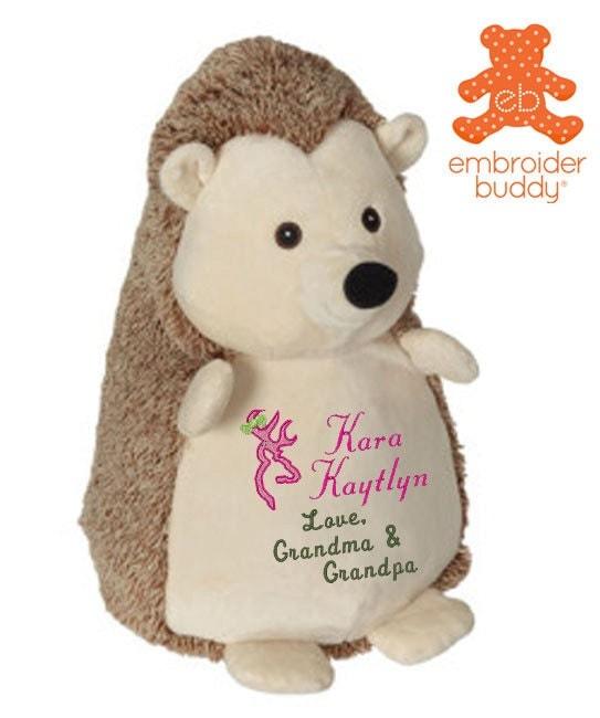Personalized stuffed hedgehog animal birth