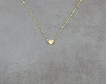 Tiny Heart [GOLD] Dainty Necklace Charm Stylish Pendant Necklace in Gift Box Love Friendship Compassion