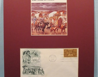 Sequoyah - Chief of the Cherokees and The Trail of Tears plus the First day Cover of his own stamp