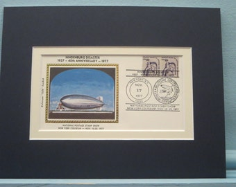 The German Dirigible Hindenburg is Lost at Lakehurst, New Jersey & Commemorative Cover