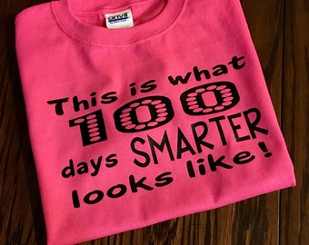 100th Day of School Shirt, One Hundred Days Smarter T-Shirt, School Shirt, Teacher Shirt, 100th Day of School T-Shirt, School Shirts