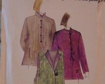 1996 Pattern UnCut Factory Folded Jacket Vest Scarf Pattern Design Sew Patterns Anne Charles