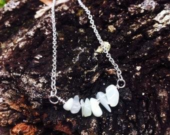 Necklace, Gemstone Necklace, Crystal Healing, Heart Chakra, Jade, Yoga, Meditation
