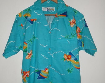 Vintage Shoreline 70s Hawaii Shirt Beach Surf