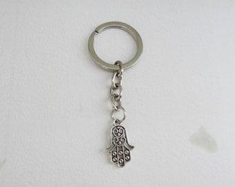 Silver Hamsa Keychain - Ready to Ship