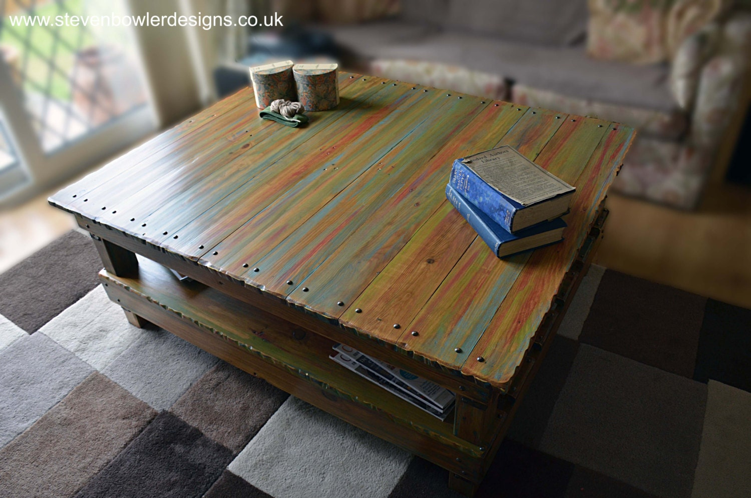Free uk shipping bespoke rustic reclaimed wood coffee for Where to find reclaimed wood for free