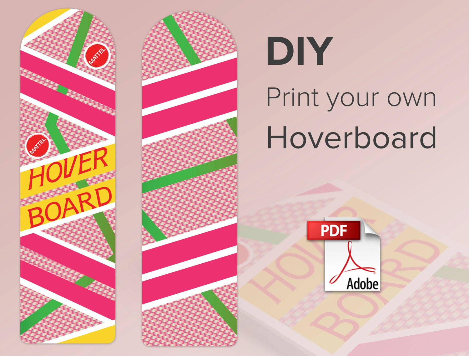 Hoverboard Print At Home Digital Download 300 Dpi