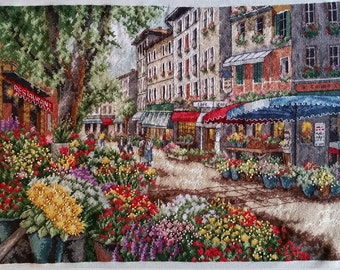 Paris Market Cross Stitch