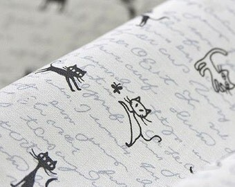 "Little Cats Pattern Cotton Fabric (20934) 55"" Width - 3 Colors Selection"