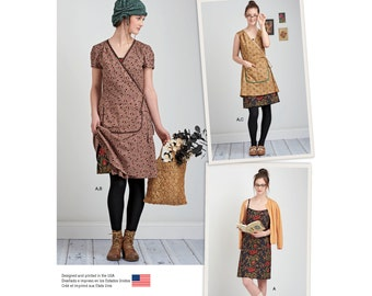 Simplicity Sewing Pattern 8186 Misses' Slip or Slip Dress and Wrap Dress in Two Lengths