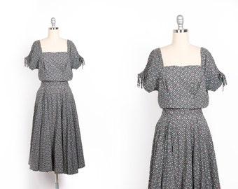 Vintage 1940s dress // 40s floral day dress