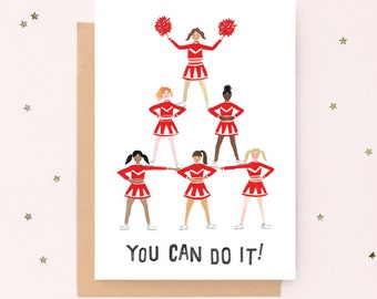 Cheerleader Good Luck Card