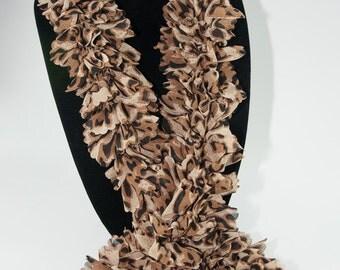 Fabric Scarf, Fabric Ruffle Scarf, Woman's Ruffle Scarf, Bell Ruffle Scarf