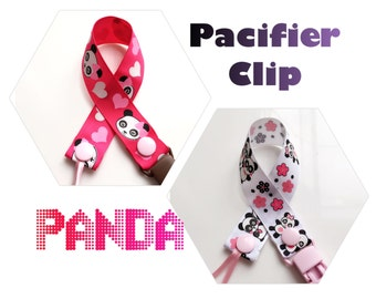 Pacifier Clip, Binky Clip * Panda *
