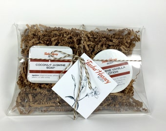 Jasmine Vanilla Travel Size Products, Travel Soap, Travel Size Body Lotion, Travel Gift Set