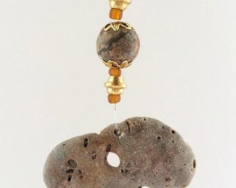 hag stone,holey stone,fairy stone, witch stone,Odin stone,feng shui cure,amulet, talisman, stone with holes,beach stone, natural holed stone