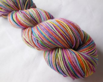 Crayola Burst Hand Dyed Superwash Merino Sock Yarn