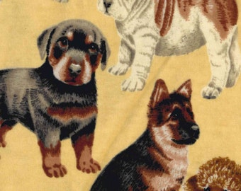 Photo Real Dogs Flannel Fabric (1 yard 5 inches)