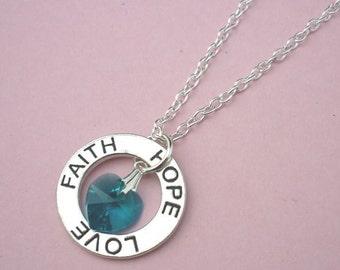 Faith hope love necklace etsy uk for Faith hope love jewelry