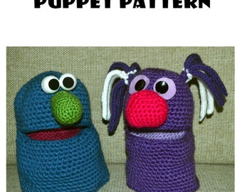 Easy Crochet Puppet Pattern Digital Download