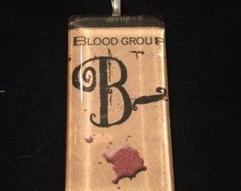 Creepy B- Blood Type Necklace
